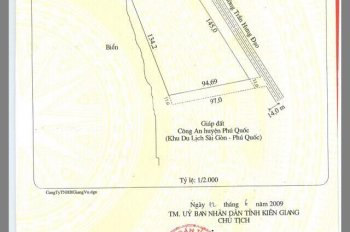 Bán đất mặt phố Trần Hưng Đạo, huyện Phú Quốc, tỉnh Kiên Giang