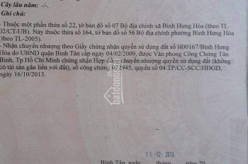 Bán đất phường Bình Hưng Hòa, Quận Bình Tân, tp Hồ Chí Minh