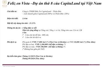 Bán căn 1PN Feliz En Vista, bàn giao thô, giá 3.1 tỷ LH 0938 024 147