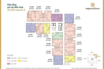 Cần tiền bán gấp CC Hope Residences, 1,4x tỷ, căn góc, 2 mặt thoáng, view đẹp