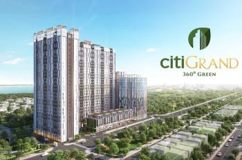 Mở bán CHCC Citi Grand Q2, DT: 56m2 (2PN, 2WC), thanh toán linh hoạt, CK và Quà tặng hấp dẫn