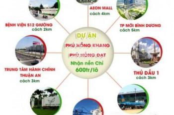 Cần bán lô đất DT 66m2 tại Thuận An, Bình Dương giá 800tr/50%nền đã có sổ. Nằm ngay KCN Vsip1