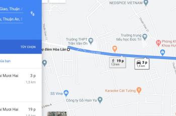 Cần bán nhanh lô đất mặt tiền đường Thuận An Hòa - cách chợ Hòa Lân 5P đi xe. LH: 0937979569