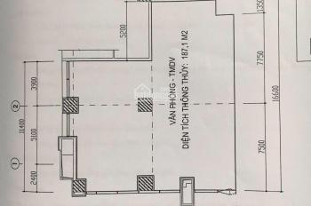 Cho thuê sàn thương mại DT 188m2 tầng 1 toà Petrowaco dự án 97 láng hạ