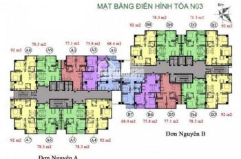 Bán Chung cư K35 Tân Mai, căn 1008, dt 92m2, 3PN, giá 25tr/m2.Lh chính chủ 0904999135