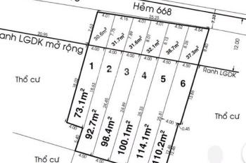 Cần bán đất hẻm 7m Quốc lộ 13, Hiệp Bình Phước, Thủ Đức, 128m2 ngang 4m giá 48tr/m2