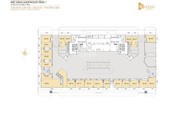 Cho thuê gấp shophouse Masteri Thảo Điền, diện tích 113m2 giá 63 triệu/tháng, LH 0913212198
