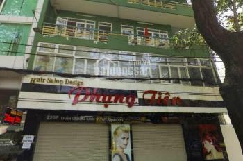 Cho thuê nhà 225F Trần Quang Khải. Quận 1, ngay gần ĐH Kinh Tế. DT 10.5mx9m. Trệt 3L. Giá 90tr/th
