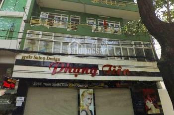 Cho thuê nhà MT Trần Quang Khải, Quận 1 góc Hai Bà Trưng, 10x10m, 4 tầng, giá 90 triệu.