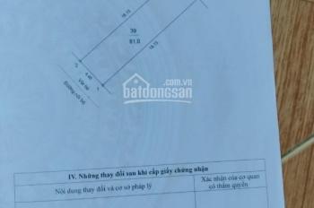 Bán đất tái định cư Phúc Đồng, Long Biên, Hà Nội, 81m2, đường, vỉa hè rộng, gần BigC, Aeon Mall