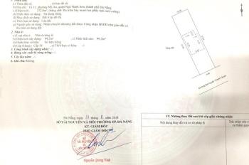 Bán nhà MT Bà Huyện Thanh Quan, Mỹ An, Ngũ Hành Sơn, DT 9,8m x 37,5m, hậu 10m. Có GPXD 8 tầng