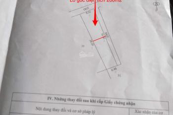 Chính chủ bán lô 2 mặt tiền 200m2 đất ở 2 mặt tiền tại thôn Vĩnh Tuy, Liên Nghĩa, Văn Giang, HY.