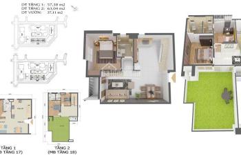 """Bán căn hộ Duplex """"Biệt thự trên không"""" 120m2 giá đầu tư 4,3 tỷ, bao gồm 100% có Sân vườn rộng rãi"""