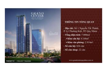 Grand Center Quy Nhơn, căn hộ smarthome chuẩn 5*, TT  16%, tặng 2 chỉ vàng CK 18%. LH: 0909819318