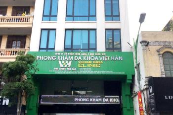 Cho thuê nhà MP Triệu Việt Vương 110m2x8 tầng, mt5m, giá 135tr, nhà mới tầng chia 2p, có thang máy