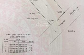 Bán lô đất hẻm 139, đường số 9, P. Linh Tây, Q. Thủ Đức, 6.7x 12m, CN: 80m2, Đông Nam