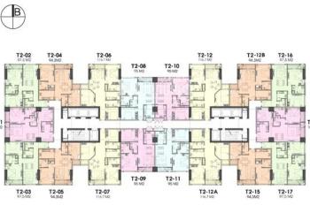 Cho thuê căn hộ 108m2, 3PN, 2WC, nội thất nguyên bản CĐT, giá thuê 15tr/tháng. LH.098.888.1630