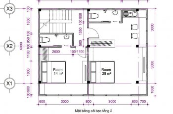Cho thuê nhà nguyên căn Nguyễn Thiện Thuật Q3, thiết kế 1 trệt 1 lửng 2 lầu gồm 6PN tiện kinh doanh