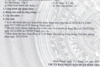 Bán Nhà 1 Trệt 3 Lầu, Đầu Nguyễn Gia Trí ( D2 ), Phường 25, Bình Thạnh.