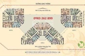 Chính chủ bán căn chung cư N04 Hoàng Đạo Thúy DT 120m2 căn số 3. Giá rẻ CC: 0983 262 899