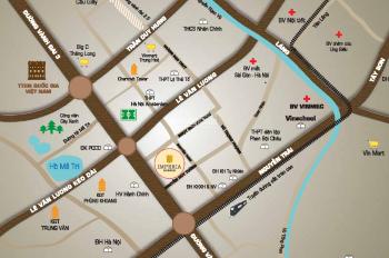 Cần cho thuê mặt bằng văn phòng Imperia Garden 111m2 ở trung tâm quận Thanh Xuân