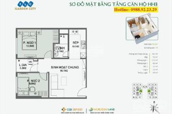 Bán căn hộ chung cư tại FLC Garden City Đại Mỗ, 53m2, giá 1.15 tỷ, gần Aeon, nhận nhà ở ngay