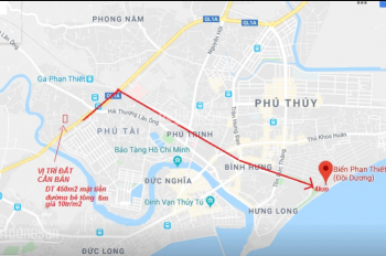 Bán đất chính chủ 2 mặt tiền, diện tích 450m2 tại TP. Phan Thiết