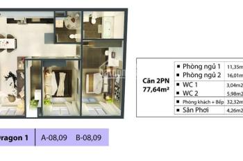 Sang lại căn hộ 79m2 tầng thấp Phoenix 1 đã nhận nhà giá bao thuế phí 2,36 tỷ .