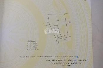 Bán đất Tổ 11 Việt Hưng- LB- HN DT: 49m2, nở hậu Rộng: 3.5m. Dài: 12.7m Hướng: đông nam Đường 3m,