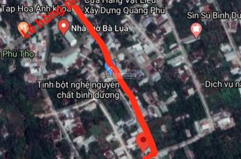 1 lô đất Phú Thọ TDM diện tích đẹp 6.5mx18m đường thông 4m đầu tư quá ok