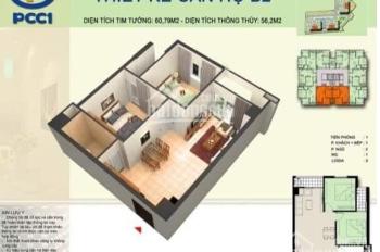 Bán căn hộ 62,5m2 chung cư PCC1 Complex Hà Đông - Phong thủy tốt