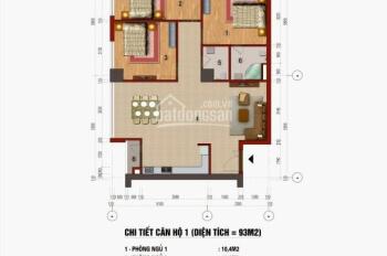 Chính chủ cần bán căn hộ 93m2 CT1 Trung văn vinaconex3 - vị trí đẹp - ban công ĐN