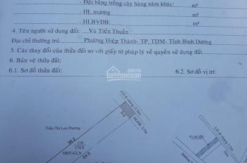 Bán đất phường Hiệp Thành, hẻm 48 Hoàng Hoa Thám, cách ĐH Bình Dương 300m, vị trí có 2 mặt tiền