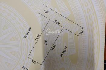 Bán đất tại Thành Tô, Tràng Cát, 75m2 (5,2x14,5m)