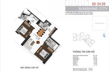 Sunshine City trục căn 2PN chỉ còn đúng 1 căn S4 - 2705 giá siêu yêu thương 3 tỷ 892.709.370 đồng