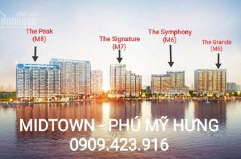 Cho Thuê Ch Midtown M6 91m2 Chỉ 900 Usd/tháng - Nội Thất Cao Cấp - LH: 0909.423.916 NGA HANA