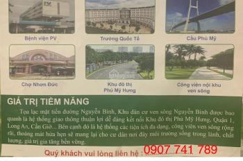 Bán gấp lô đất có sổ đỏ KDC Nguyễn Bình, Nhơn Đức Nhà Bè, giá 28tr/m2, có phí cho người giới thiệu