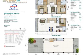 Duy nhất 63 căn nhà mặt phố cuối cùng! Dự án hot nhất thị trường, Centa city VSiP, LH 09116.17768