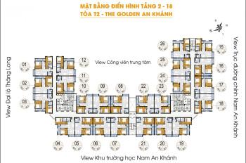 Chính chủ bán gấp chung cư Golden An Khánh, tầng 1507 DT 65m2, giá 1.1 tỷ. LH 0904999135