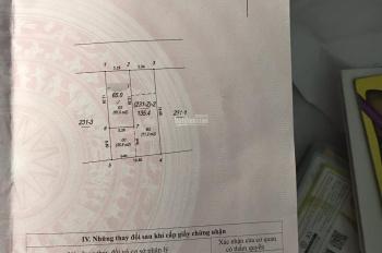 Bán đất tặng nhà 2 tầng Ngọc Lâm - Long Biên - Hà Nội . Diện tích : 65m2 . Rộng : 5.26m . Dài : 12.3