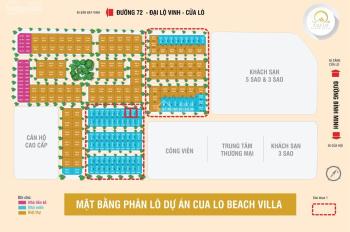 Bán cặp nền Cửa Lò Beach Villa kề lô góc giá rẻ nhất thị trường: Gọi 0909054959