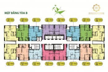 0933269345, chính chủ cần bán gấp chung cư Intracom Riverside, tầng 1510, DT 65.7m2, giá 20tr/m2