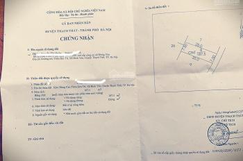 Chính chủ cần bán đất giãn dân tại Sen Trì Bình Yên 187m2 toàn bộ đất ở LH 036.800.5203