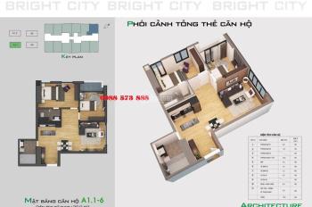 Chính chủ bán căn hộ A1.1 - 3106 70m2 2PN 2WC chung cư Bright City Hoài Đức Hà Nội. LH: 0982233313