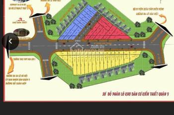 Bán đất thổ cư KDC Kiến Thiết , Quận 9. Sổ đỏ cá nhân, giá chỉ từ 23tr/m2, nền 5x16m. LH 0931022221
