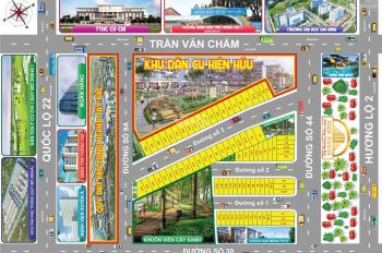 Bán đất MT Trần Văn Chẩm,cách QL 22 (800m) Củ Chi,TP HCM-SHR-sang tên CC ngay LH: 0939716504