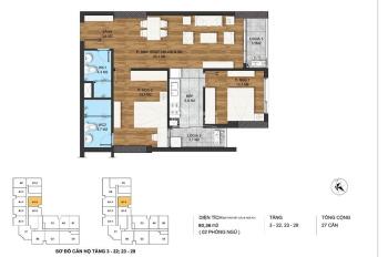 Chính chủ cần bán căn 2 ngủ ban công đông nam dự án The Park Home -Cầu Giấy giá 40tr.Lh 0904896222