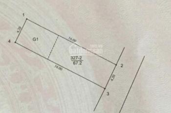 Cần chuyển nhượng mảnh đất 67m2 đường mới cạnh sân bay Gia Lâm - Phường Gia Thụy - Long Biên - HN