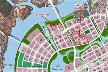 Bán 2 căn nhà phố Thủ Thêm Lakeview, 4 lô 4.8, đường ven hồ Quận 2, giá 33,5 tỷ, 5.2x18m, 4 lầu