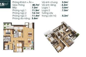 Bán căn góc 3PN + 1 đa năng, giá 24,5 tr/m2 tốt nhất khu vực Long Biên